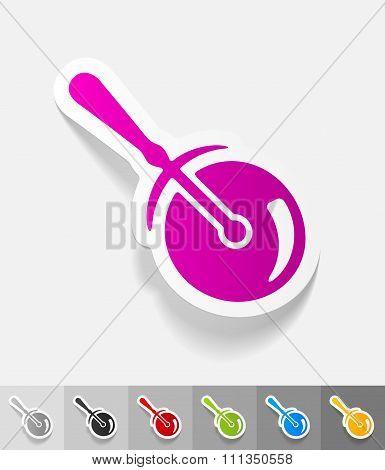 realistic design element. knife-roller