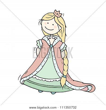 Cute Cartoon Fairytale Princess