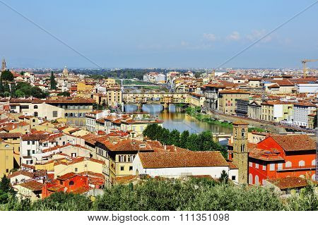 Florence And Panoramic View, Firenze, Tuscany, Italy