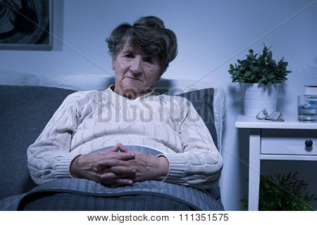Elderly Woman With Painful Afflictions