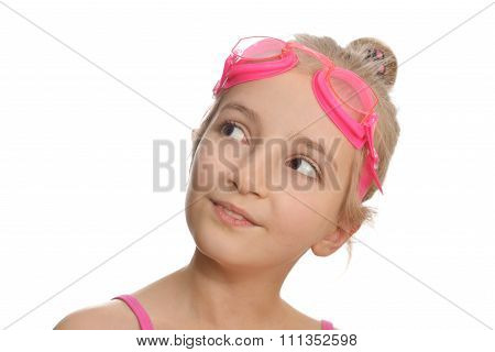 Girl  In  Swimming Costume