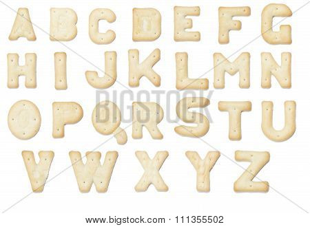 Full English Alphabet Of  Cracker Cookie