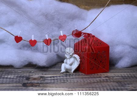 Beautiful Valentine Holiday Composition