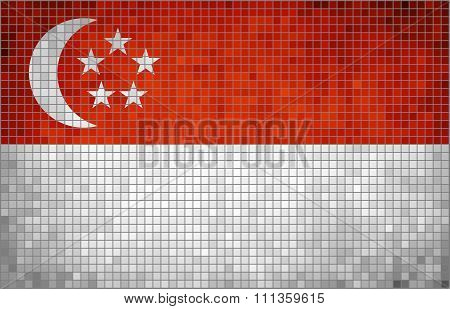 Flag Of Singapore.eps