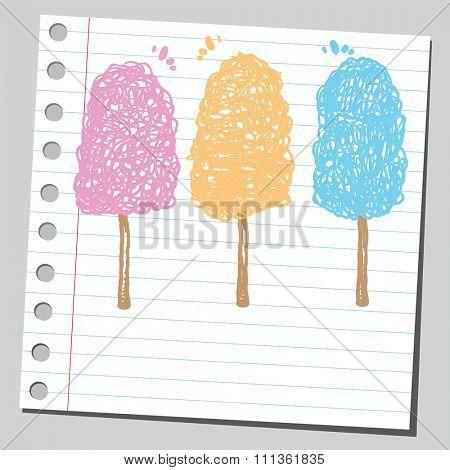 Colorful cotton candies