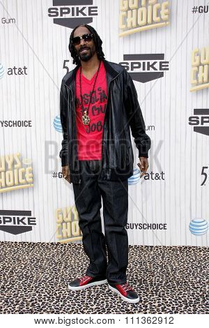 Snoop Dogg at the 2013 Guys Choice Awards held at the Sony Pictures Studios in Culver City, California, United States on June 8, 2013.