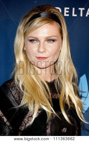 Kirsten Dunst at the 24th Annual GLAAD Media Awards at the JW Marriott Los Angeles at L.A. LIVE on April 20, 2013