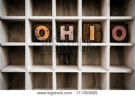 Ohio Concept Wooden Letterpress Type In Drawer