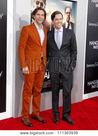 Bradley Cooper and Ed Helms at the Los Angeles Premiere of