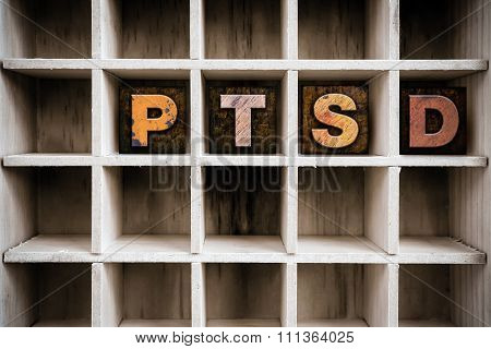 Ptsd Concept Wooden Letterpress Type In Drawer