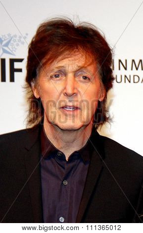 Sir Paul McCartney at the 23rd. Annual Simply Shakespeare held at the Broad Stage in Santa Monica, California, United States on September 25, 2013.