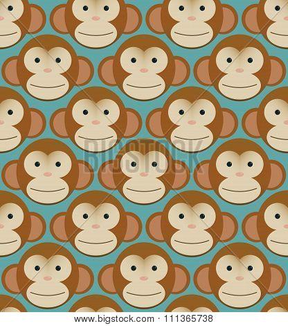 Seamless pattern background tile - monkeys new year china