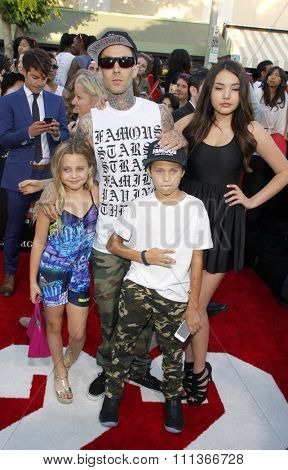 Travis Barker at the Los Angeles premiere of