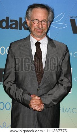 Steven Spielberg attends Women In Film Presents The 2007 Crystal and Lucy Awards held at the Beverly Hilton Hotel in Beverly Hills, California, California, on June 14, 2006.