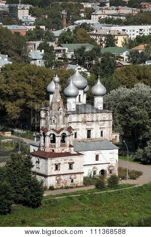 provincial town Vologda aerial view