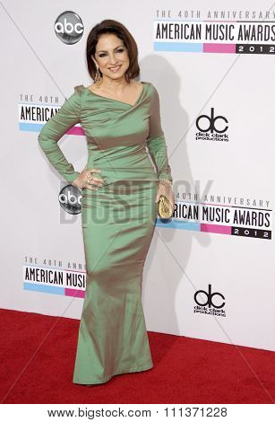Gloria Estefan at the 40th Anniversary American Music Awards held at the Nokia Theatre L.A. Live in Los Angeles, California, United States on November 18, 2012.