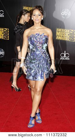 Alicia Keys at the 2009 American Music Awards held at the Nokia Theater in Los Angeles, California, United States on November 22, 2009.