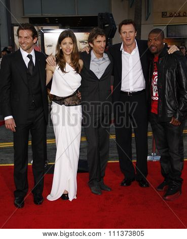 Bradley Cooper, Jessica Biel, Sharlto Copley, Liam Neeson and Quinton Jackson at the World Premiere of