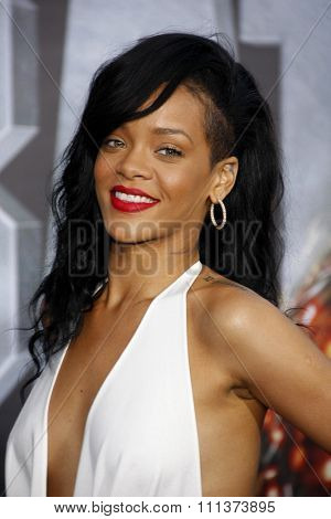 Rihanna at the Los Angeles premiere of