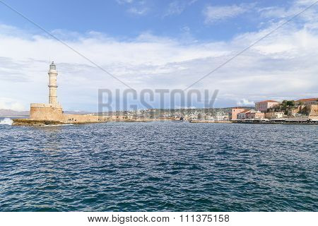 Chania Harbor Entrance