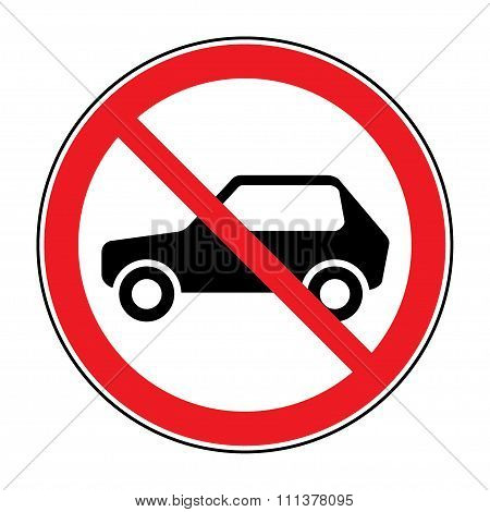 No Car Sign