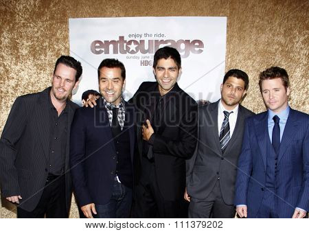 June 16, 2010. Kevin Dillon, Jeremy Piven, Adrian Grenier, Jerry Ferrara and Kevin Connolly at the Season 7 premiere of