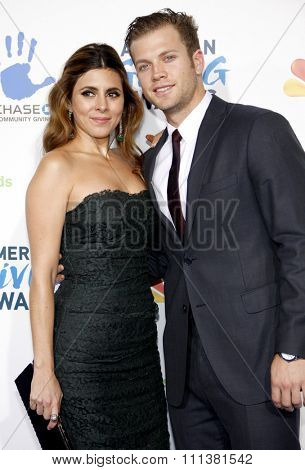 Jamie-Lynn Sigler and Cutter Dykstra at the 2nd Annual American Giving Awards held at the Pasadena Civic Auditorium in Los Angeles, United States, 071212.