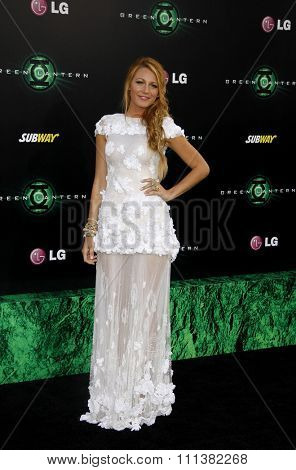 HOLLYWOOD, CALIFORNIA - Wednesday June 15, 2011. Blake Lively at the Los Angeles premiere of