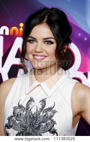 Lucy Hale at the 2012 TeenNick HALO Awards held at the Hollywood Palladium in Los Angeles, United States, 171112.