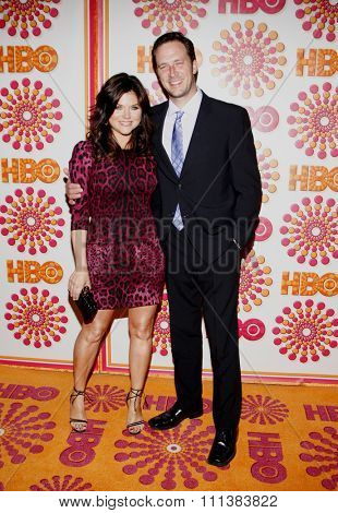 LOS ANGELES, USA - SEPTEMBER 18: Tiffani Thiessen and Brady Smith at the HBO's 2011 Emmy After Party held at the Pacific Design Center in West Hollywood, USA on September 18, 2010.