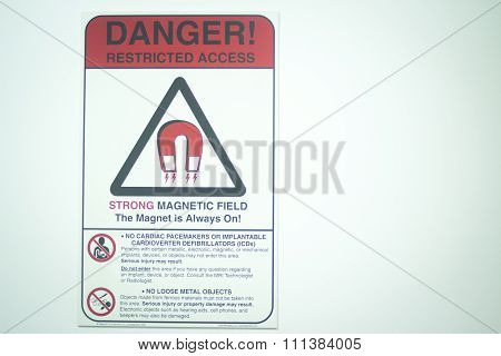 Mri Magnetic Resonance Imaging Scan Warning