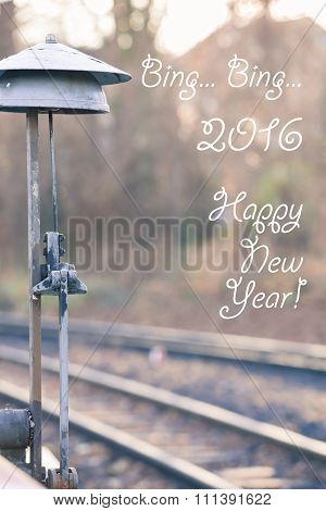 Railroad Signal Bell and New Year Wish 2016