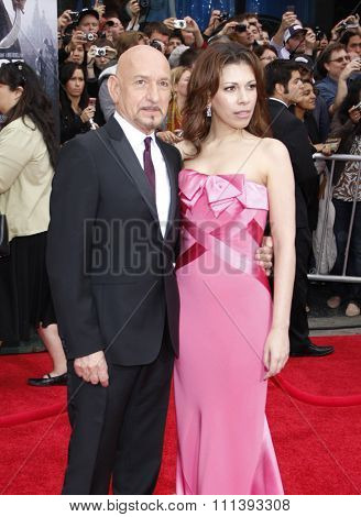 Sir Ben Kingsley and Daniela Lavender at the Los Angeles Premiere of