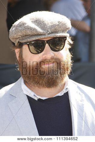 Zach Galifianakis at the Los Angeles Premiere of