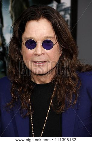 Ozzy Osbourne at the Los Angeles premiere of