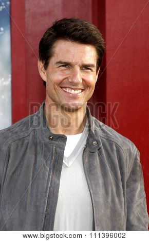 LOS ANGELES, USA - JUNE 8: Tom Cruise at the Los Angeles premiere of