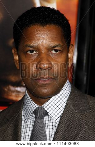 WESTWOOD, CALIFORNIA - Tuesday October 26, 2010. Denzel Washington at the Los Angeles premiere of