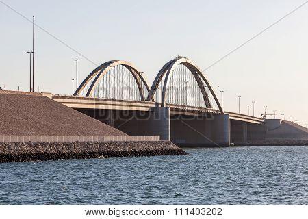 Sheikh Khalifa Bin Salman Bridge In Bahrain