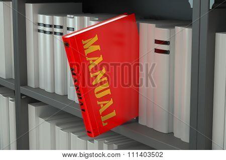 Manual Concept On The Bookshelf