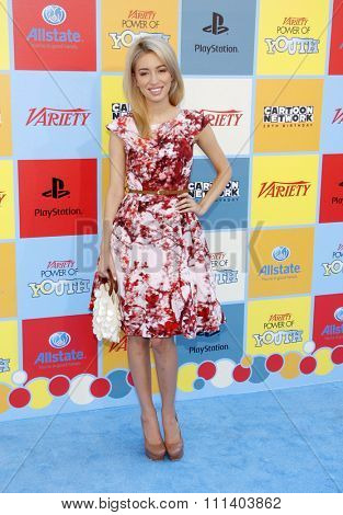 Christian Serratos at the Variety's 6th Annual Power Of Youth held at the Paramount Studios in Los Angeles, California, United States on September 15, 2012.