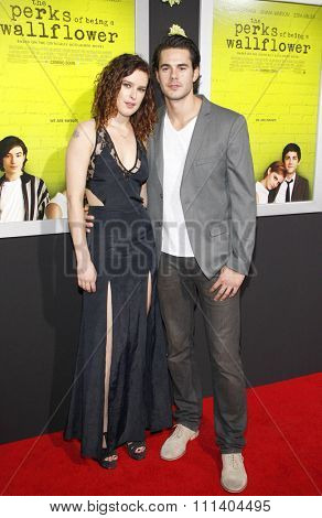 Rumer Willis and Jayson Blair at the Los Angeles premiere of