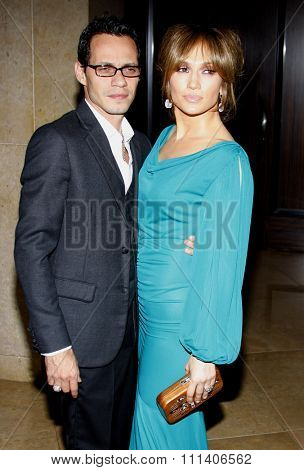 9/5/2009 - Beverly Hills - Marc Anthony and Jennifer Lopez at the 2009 Noche De Ninos Gala held at the Beverly Hilton Hotel in Beverly Hills, United States.