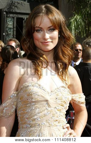 Olivia Wilde attends the 59th Annual Primetime Emmy Awards held at the Shrine Auditorium in Los Angeles, California, United States on September 16, 2007.
