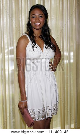 Tatyana Ali attends the Step Up Women's Network 2008 Inspiration Awards Luncheon held at the Beverly Wilshire Hotel in Beverly Hills, California, United States on April 30, 2008.
