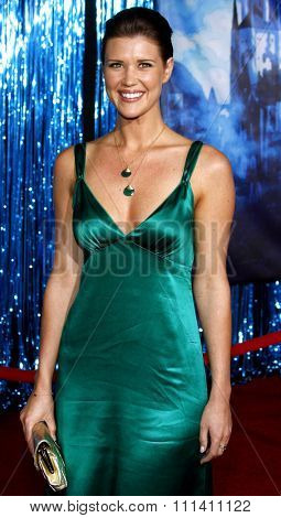 Sarah Lancaster attends the World Premiere of