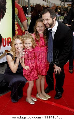 Leslie Mann, Judd Apatow and daughters Maude and Iris attend Los Angeles Premiere of