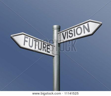 Visión futura roadsign