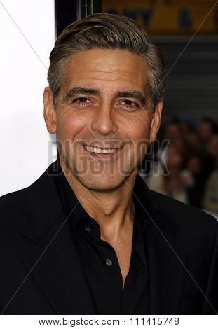 George Clooney attends the Los Angeles Premiere of