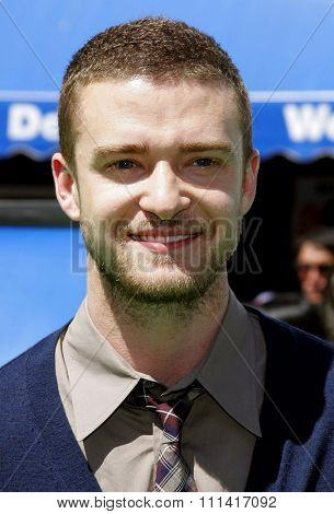 Justin Timberlake attends the Los Angeles Premiere of