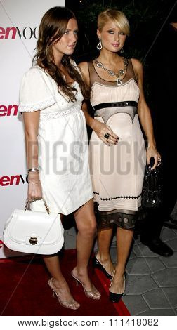 Nicky Hilton and Paris Hilton attend the Teen Vogue Young Hollywood Party held at the Sunset Tower Hotel in Hollywood, California on September 21, 2006.
